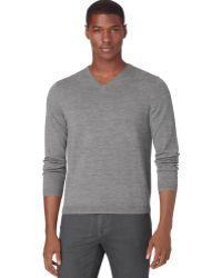 Calvin Klein Merino V-neck Sweater - Lyst