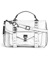 Proenza Schouler 'Ps1' Medium Stud Leather Satchel white - Lyst