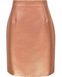 Reiss Mona Metallic Skirt - Lyst