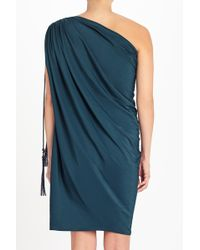 Lanvin | Draped One-shoulder Crepe Dress | Lyst