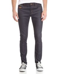 Superdry Dark Wash Fivepocket Skinny Jeans Full Raw - Lyst