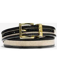 Cole Haan Canvas/Leather Trim Belt black - Lyst