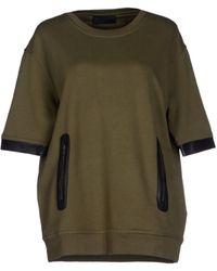 Diesel Black Gold Sweatshirt green - Lyst