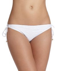 Shoshanna Diamond String Bikini Bottom white - Lyst