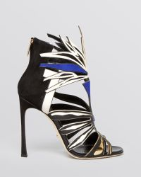 Sergio Rossi Open Toe Caged Sandals - Tribal Runway High Heel - Lyst