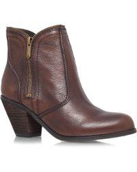 Sam Edelman Edelman Brown Linden Leather Ankle Boots - Lyst