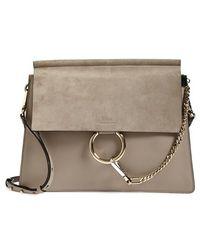 Chloé 'Medium Faye' Shoulder Bag - Lyst