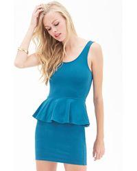 Forever 21 Classic Peplum Dress - Lyst