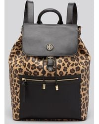 Tory Burch Backpack  Kerrington Leopard Print - Lyst