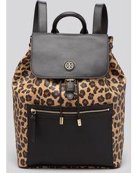 Tory Burch Backpack  Kerrington Leopard Print - Lyst