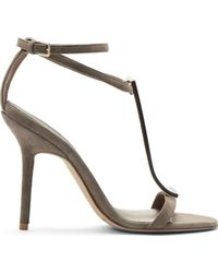 Burberry Prorsum Grey Suede and Plexi Irving Heels - Lyst