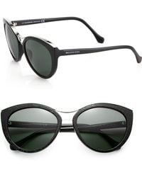 Balenciaga Etched 57Mm Modified Cat'S-Eye Sunglasses - Lyst