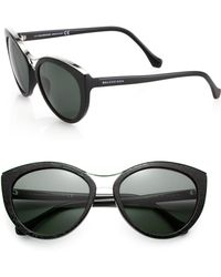 Balenciaga Etched 57Mm Modified Cat'S-Eye Sunglasses black - Lyst
