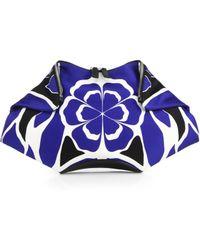 Alexander McQueen De Manta Floral Silk Clutch - Lyst