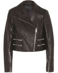 Rag & Bone Vespa Cropped Leather Jacket - Lyst