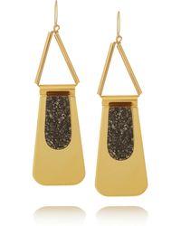 Marni Goldplated Pyrite Earrings - Lyst