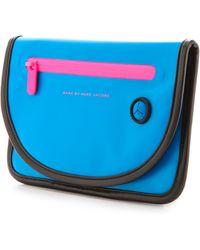 Marc By Marc Jacobs Luna Tarp Mini Tablet Case  Electric Blue Lemonade - Lyst