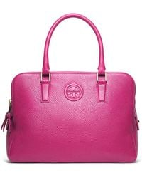 Tory Burch Marion Triple-Zip Satchel - Lyst