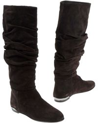 Burberry Brown Boots - Lyst
