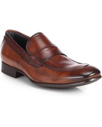 To Boot Leather Penny Loafers - Lyst