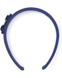 Ferragamo Vara Bow Headband blue - Lyst