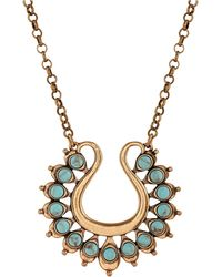 Lucky Brand - Heritage Holiday Turquoise Pendant Necklace - Lyst