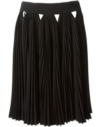 Givenchy Pleated Aline Skirt - Lyst