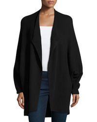 Lafayette 148 New York   Cashmere-blend Open-front Dolman-sleeve Sweater   Lyst
