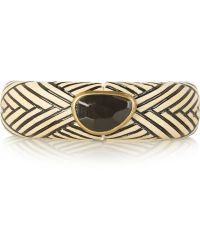 Isabel Marant Engraved Wood Horn and Brass Bracelet - Lyst