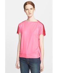 Junya Watanabe Coated Knit Top pink - Lyst