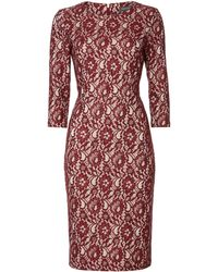 Pied A Terre Amy Lace Shift Dress 34 Sleeve - Lyst