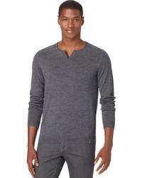 Calvin Klein Split Crewneck Sweater - Lyst