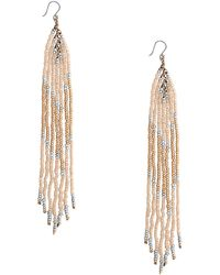 Lucky Brand - Multicolour Beaded Fringe Earrings - Lyst
