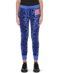Juicy Couture Snake-Pattern Velour Jogging Bottoms - For Women - Lyst