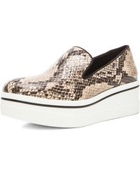 Stella McCartney Python Embossed Faux Leather Creepers - Lyst