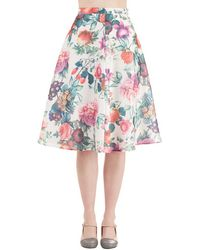 Glamorous Among The Blooms Skirt - Lyst