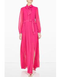 Alice By Temperley Long Rose Pleated Dress - Lyst