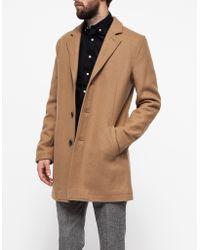 Topman Camel Wool Jacket - Lyst