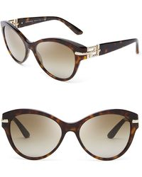 Versace Rock Icons Greca Cat Eye Sunglasses - Lyst