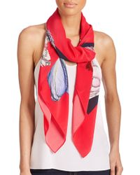 Swash London - Morphology Amaranthaceae Silk Scarf - Lyst