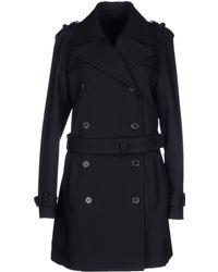 Neil Barrett Leather Sleeve Coat in Black black - Lyst
