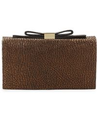 See By Chloé Nora Crinkled Leather Smart Clutch Bag - Lyst