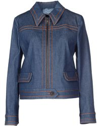 Prada Denim Outerwear - Lyst