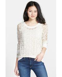 Halogen - Lace Sweatshirt - Lyst