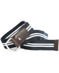 Tommy Hilfiger | Blue And White Striped Belt | Lyst