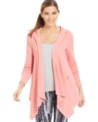 Calvin Klein Performance Thermal Draped Hooded Cardigan - Lyst