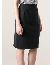 Krizia Vintage Pencil Skirt - Lyst