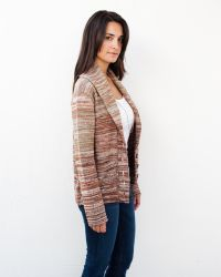 Goddis - Berto Fitted Button Knit Jacket In Hazelnut - Lyst
