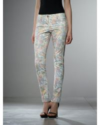 Patrizia Pepe 5 Pocket Trousers In Printed Cotton - Lyst