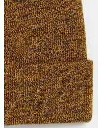 Lac Mustard and Bk Mini Beanie - Lyst